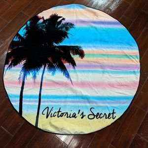 Victoria secret round beach towel
